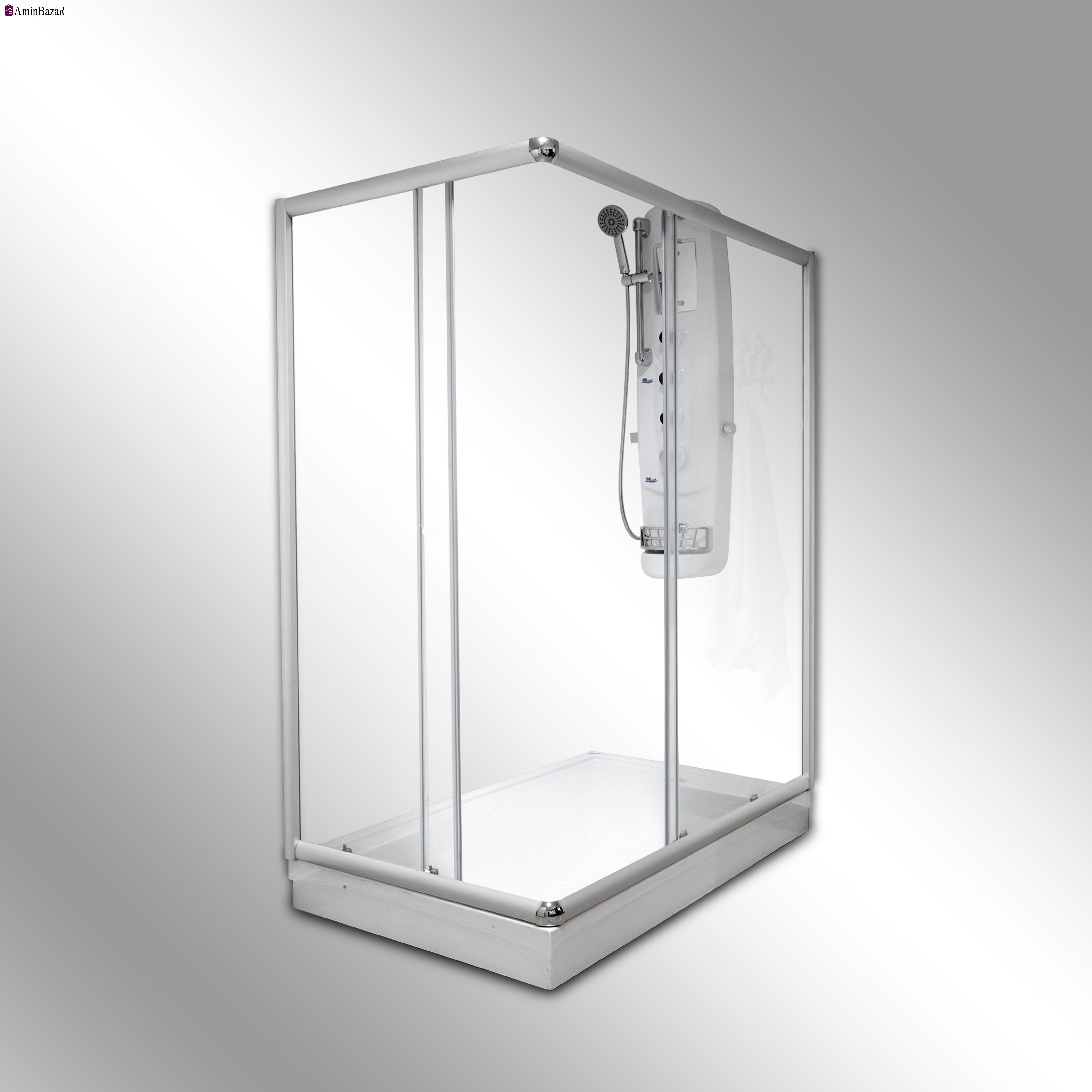 کابين دوش با زيردوشی سنی پلاستیک مدل نلین سایز 210*80*100